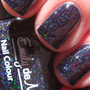 Nail polish - &quot;Dark Crystal&quot; micro holographic glitter in a black jelly base - new 12ml bottle