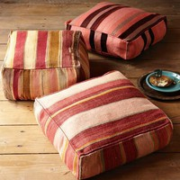 Found Battani Pouf - Striped | west elm