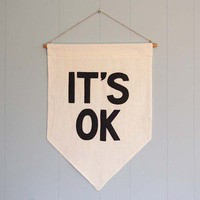 "Secret Holiday & Co. — ""IT'S OK"" Affirmation Banner"
