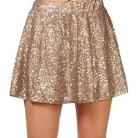 SALE-Bronze Sequin Circle Skirt