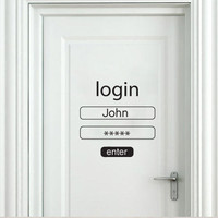 Login - Password wall decal housewares
