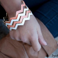 Spring Collection Chevron Bangles - Set of 3!