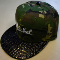 Snap Back Black Snake & Cammo