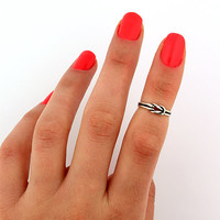 Vintage Look Sterling Silver Infinity Midi ring Toe Ring Adjustable Midi love knot ring memory tea ring Promise Ring above the knuckle ring