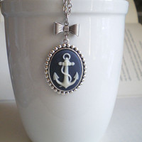 Anchor Bow Necklace