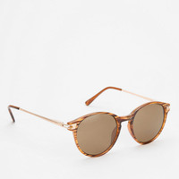 Retro Round Metal Sunglasses- Black One