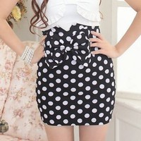 Polka Dot High Waist Skirt from Oh My! Fashion
