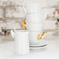 Alada Gold Winged Teacup Set of 2 Estudio Manus