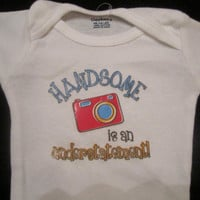 Newborn Baby Onesuit Red and Blue for boy Handsome is an understatment