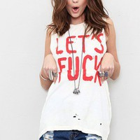 UNIF - Let's F Sleeveless Tee - NEW