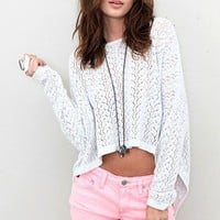 MINK PINK - Let It Be Cropped Sweater - NEW