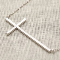 Fashion Silver Cross Chain Necklace