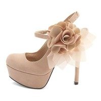 Velvet Blossom Mary Jane Pump: Charlotte Russe