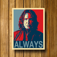 Snape Always Harry Potter  Poster 11 x 14 by EntropyTradingCo