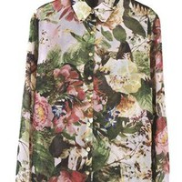 Floral Long Sleeved Shirt S010115