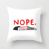 That January Feeling Throw Pillow by Gemma Correll | Society6