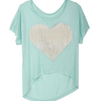 Mint Shine Heart Tee