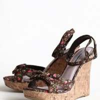 garden party floral wedges