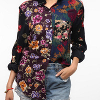 Urban Renewal Pieced Printed Boyfriend Shirt