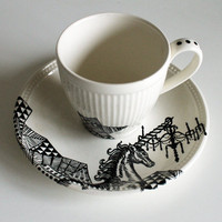 Unique Unicorn teacup by yvonneellen on Etsy