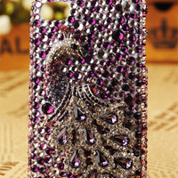 Gullei Trustmart : iPhone4 3GS Peacock Crystals Birthday Cover [GTM00534] - &amp;#36;66.00-Couple Gifts, Unique USB Gadgets, Best iPad/iPod/iPhone Covers &amp; Home Decor