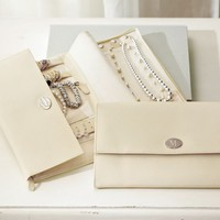 McKenna Leather Travel Jewelry Portfolio | Pottery Barn