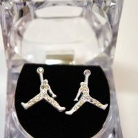 Air Michael Jordan White Matte Color Earring Cz: Jewelry: Amazon.com