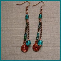 Autumnal Tassle Earrings by AthomicArtandDesign on Zibbet