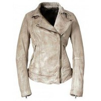 Muubaa Merini Leather Biker Jacket in Mint