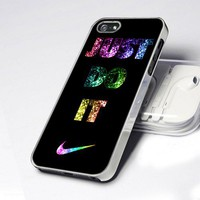 Nike Just Do It Glitter design for iPhone 5 case