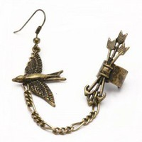 Bird Arrow Ear Cuff