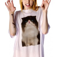 Wildfox Couture Chocolate Kitten Cobain T  | Dolls Kill