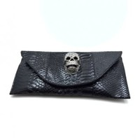 Glitter Skull Clutch