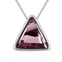 Magic Triangle Purple Crystal Necklace