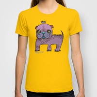 PUG KING T-shirt by PINT GRAPHICS
