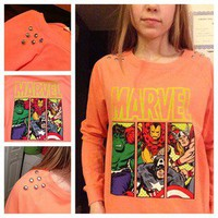 HipsterbyMadi  Studded Marvel Crewneck