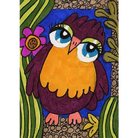 Owl Art, Owl Art Print, Kids Room Decor, Nursery Room Art, Girls Room Decor 8 x 10 by Paula DiLeo