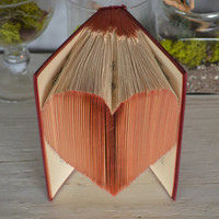 Folded Red Heart Book