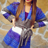 What I Know Sweater: Purple/Brown | Hope's