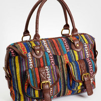Multicolor Stripe Satchel