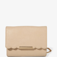 Scalloped Flap Crossbody