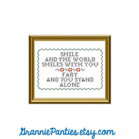 PDF PATTERN ONLY  Smile and the world smiles by granniepanties
