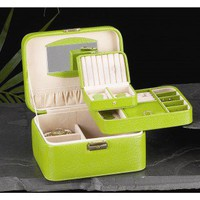 Bey-Berk Jewelry / Watch Case in Lime Leather - BB534LIM