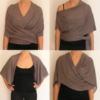 Soft and Snuggly Viscose Shawl with endless forms of by meydalle