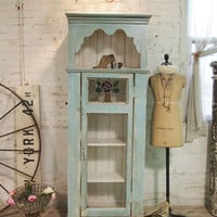 Pained Cottage Chic Shabby Handmade Farmhouse Cabinet CC19