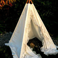 lace teepee tent photo prop