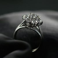 Vintage Diamond Cluster Engagement Ring by Ruby Gray&#x27;s | Ruby Gray&#x27;s