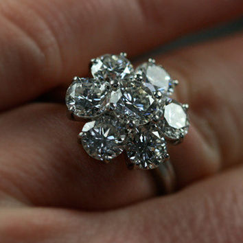 Large Vintage Diamond Daisy Cluster From Rubygraysm. Rhodolite Garnet Engagement Rings. Thin Band Rings. Cocoa Engagement Rings. Long Rectangle Wedding Rings. Lume Rings. Modern Fashion Engagement Rings. Toe Rings. Side View Engagement Rings
