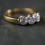 Pretty Vintage Triple Diamond Engagement Ring by Antique | Ruby Gray's