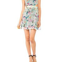 Floral Cut Out Dress - 2020AVE